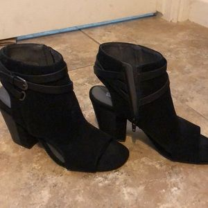 White Mountain from Macys Black Suede Platforms